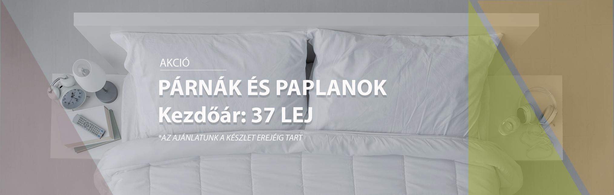 PÁRNÁK ÉS PAPLANOK - AKCIÓ Kezdőár 37 LEJ