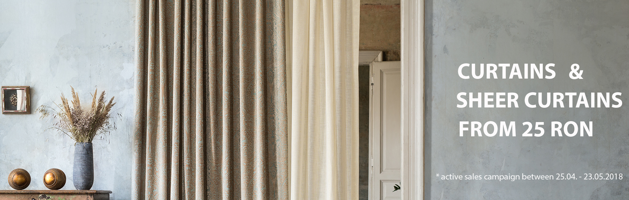Curtains and Sheer Curtains - Promotion May 2018
