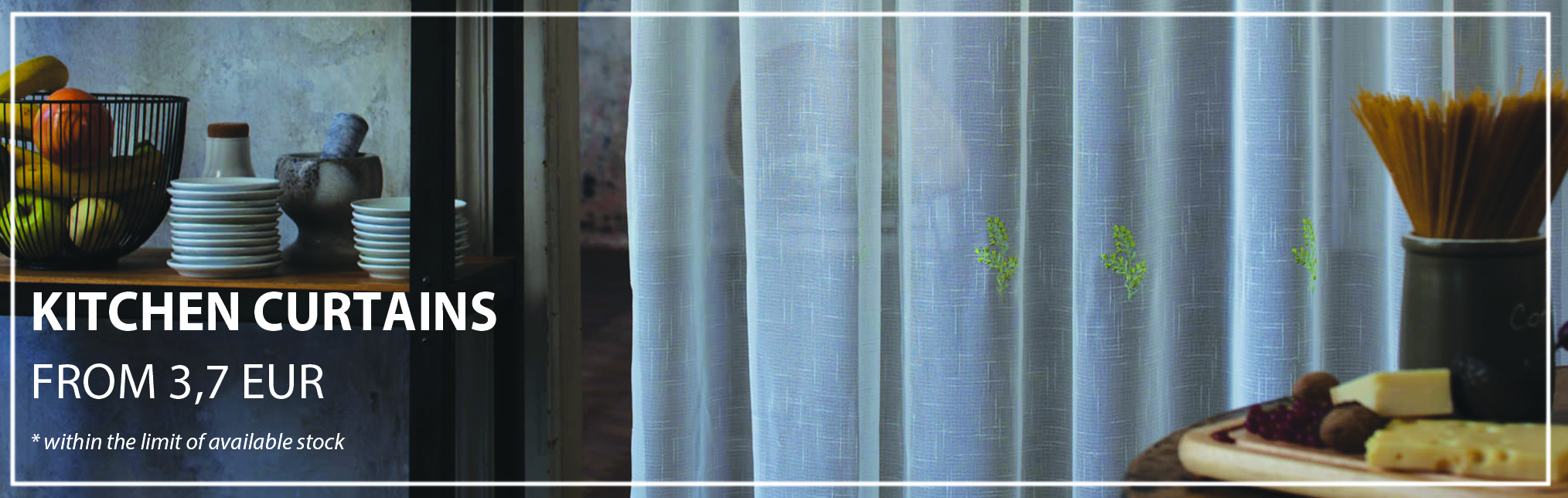 August Promotions:Kitchen Curtains