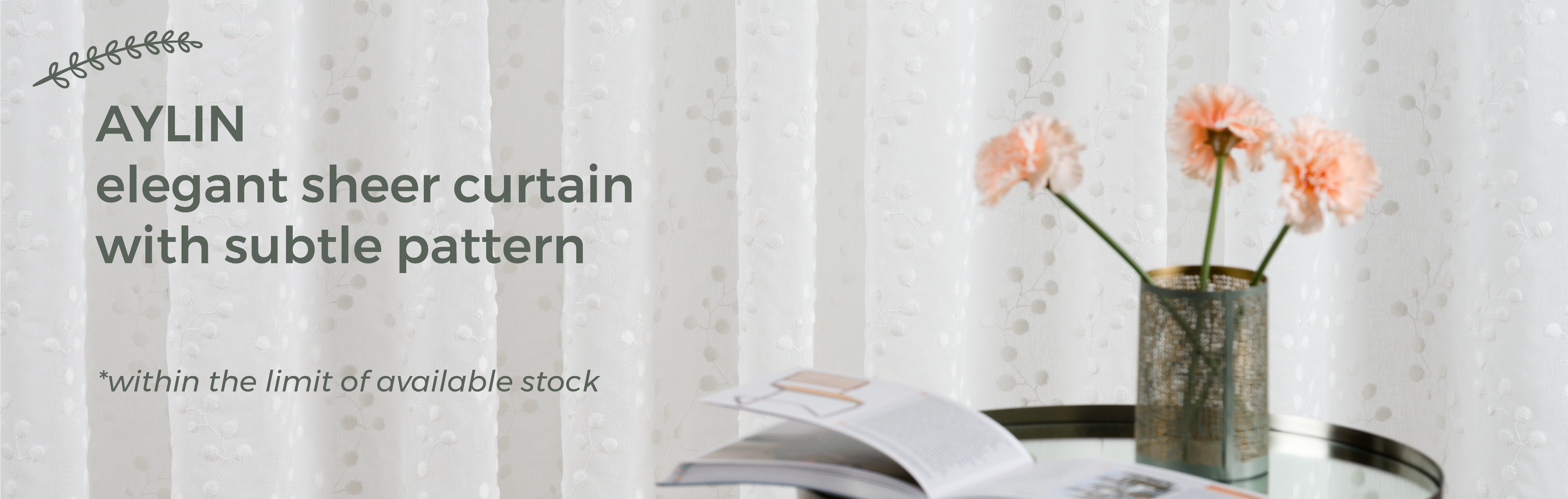 November's Promotion - Aylin Sheer Curtains