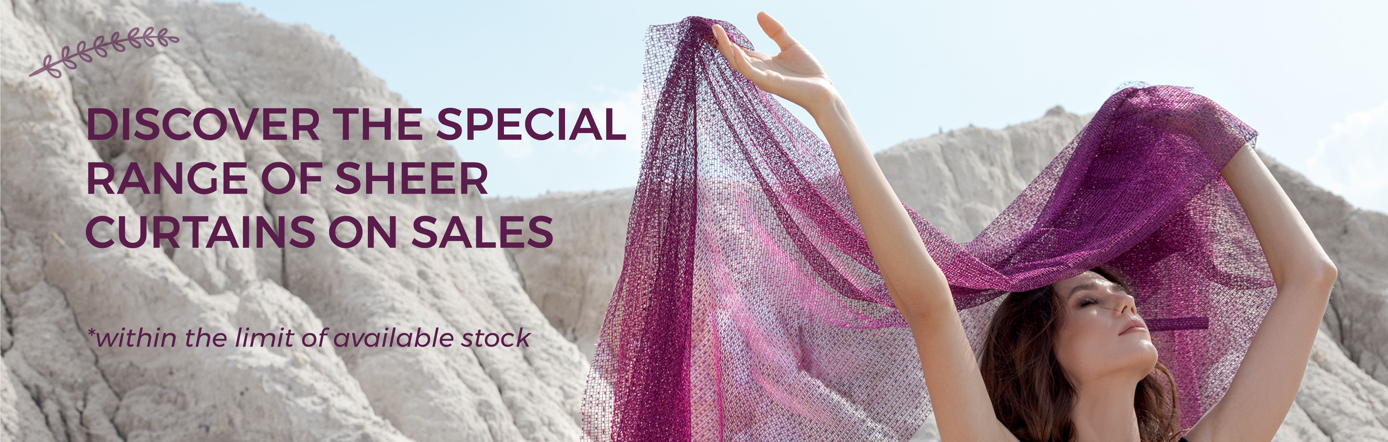 November's Promotion - Sheer Curtains on Sales