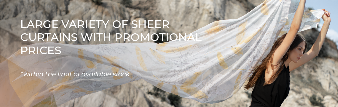 Promotion of the Month - Sheer Curtains on Sales