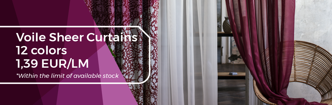 March Promotion - Voile Sheer Curtains