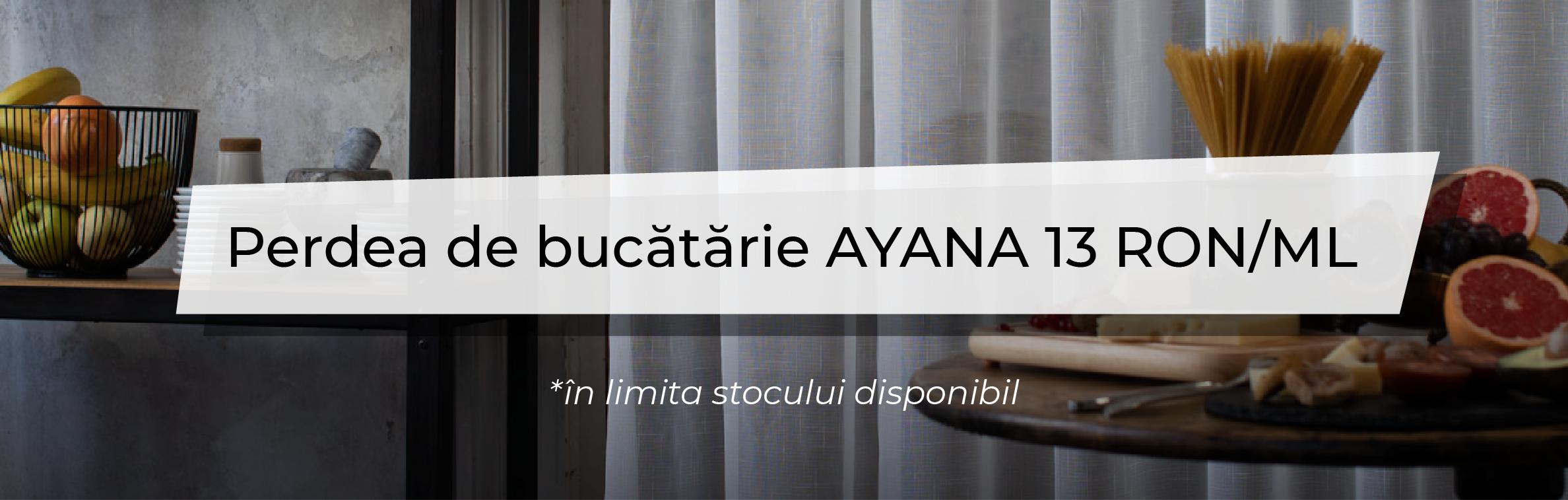Promotiile Lunii - Perdea de bucatarie Ayana
