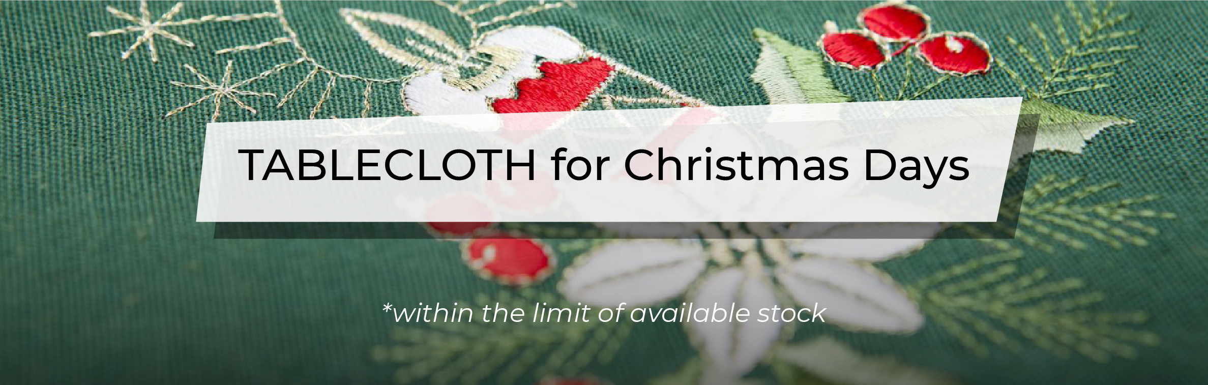 December Promotion - Christmas Tablecloth