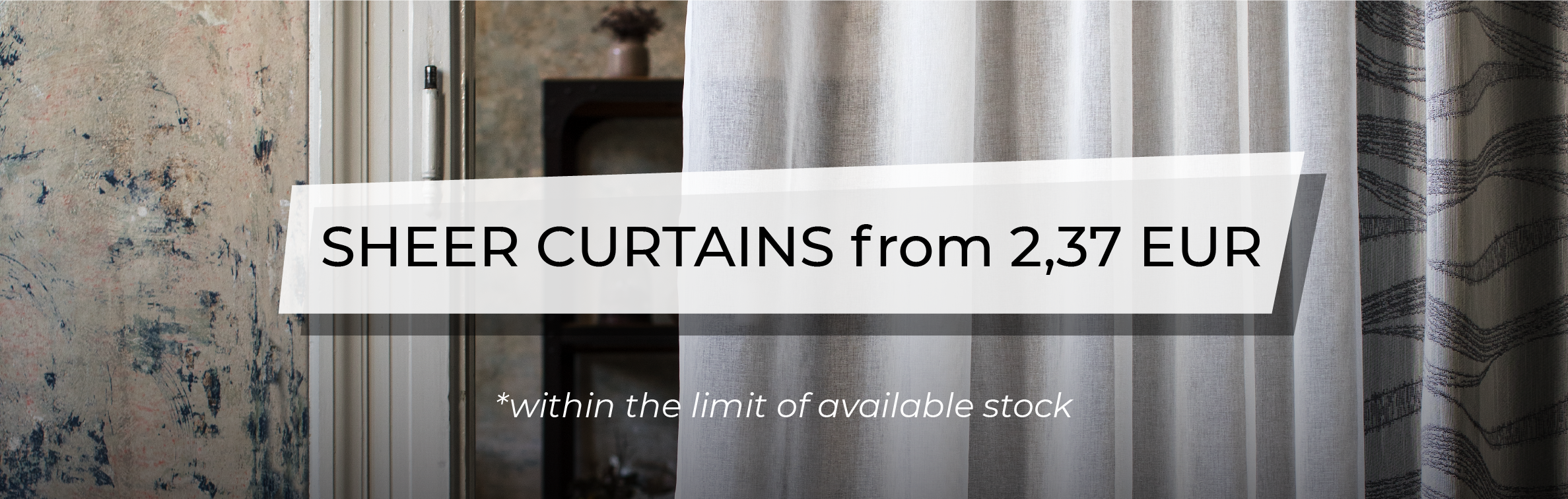 December Promotion - Sheer Curtains