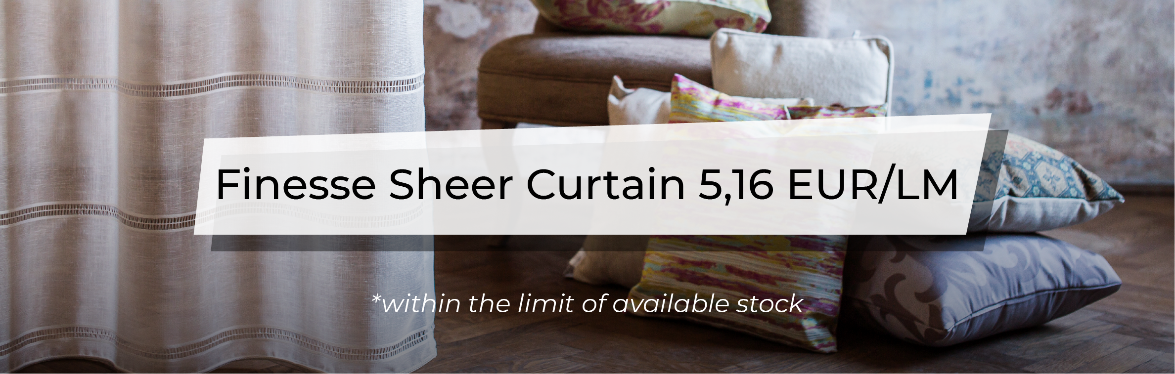 December Promotion - Finesse Sheer Curtain