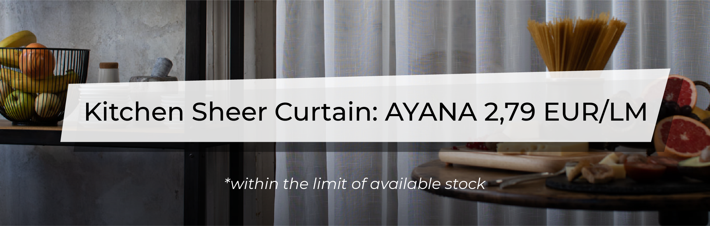 December Promotion - Ayana Kitchen Sheer Curtain