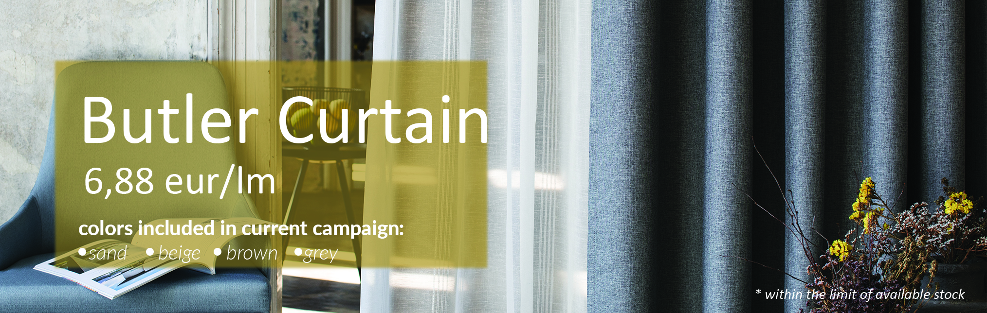 October Promotions - Butler Curtain