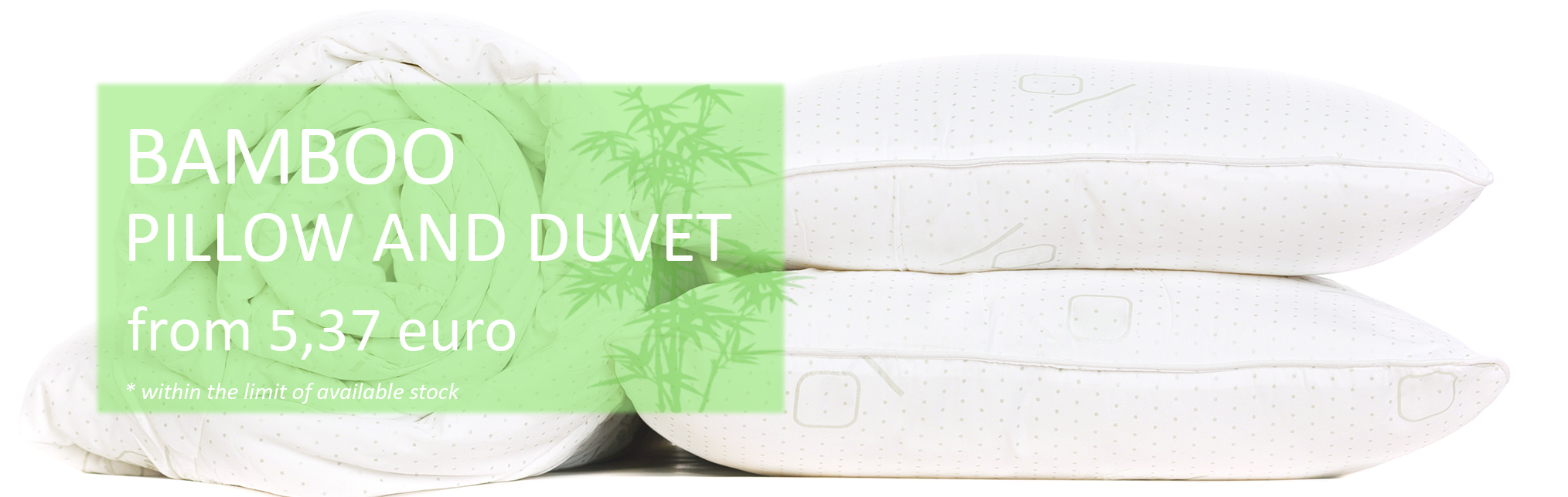 October Promotion - Bamboo Pillow and Duvet