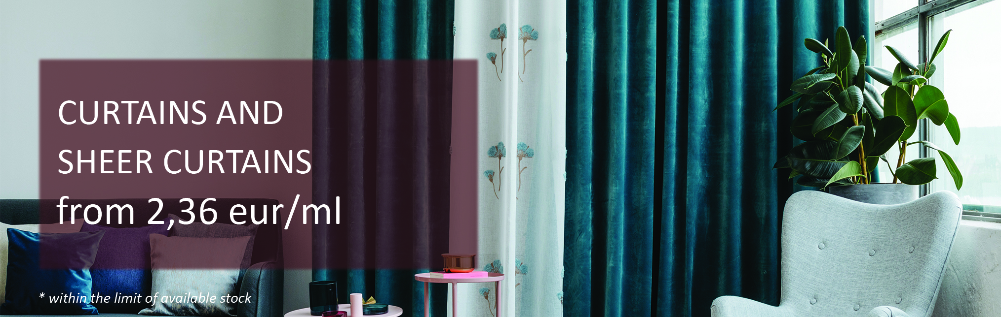 October Promotions: Curtains and Sheer Curtains
